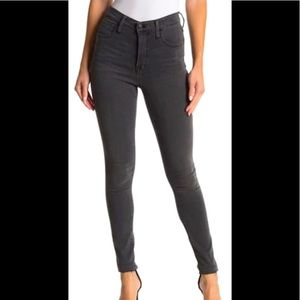 "Madewell 10"" High Rise Skinny Jeans Black/ Gray 26"
